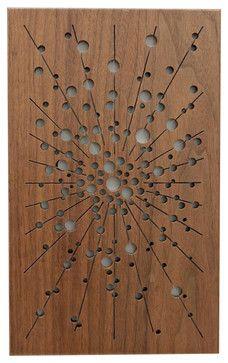 galaxy Two Fretwork - midcentury - Artwork - Frederick Arndt Artworks LLC Wooden Glass Door, Wooden Main Door Design, Double Door Design, Wooden Doors, Flush Door Design, Grill Door Design, Gate Design, Pooja Room Door Design, Door Design Interior