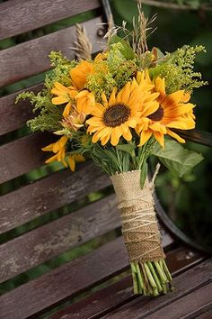 wedding decorations with burlap sunflower burlap lace and pheasant feather bridal bouquet 9167