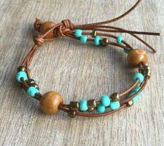 Diy Leather Bracelet, Leather Jewelry, Boho Jewelry, Beaded Jewelry, Jewelry Bracelets, Handmade Jewelry, Women Jewelry, Jewellery, Silver Jewelry