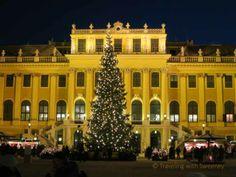 Christmas Market at Schönbrunn Palace in Vienna, Austria