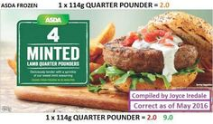 183 calories each Aldi Slimming World Syns, Asda Slimming World, Slimming World Tips, Frozen Shop, Lamb Burgers, Evening Meals, Healthy Eating Recipes, Food And Drink, Health Fitness