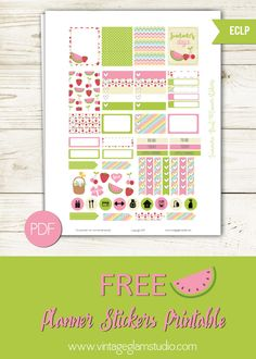 FREE Summer Fruit Planner Stickers