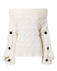 Dorian Off Shoulder Sweater, WHITE, hi-res