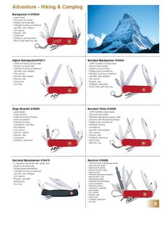 Wenger Swiss Army Knife Catalog Page 2002 - 2003 Wenger Swiss Army Knife, Clean Nails, Cool Knives, Pocket Knives, Everyday Carry, Edc, Man Cave, Catalog, Thoughts