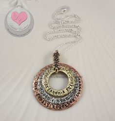 Personalized Washer Necklace  3 Washers by LalabelCreations, $50.99