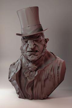 Dr Jekyll & Mr Hyde, James W Cain on ArtStation at https://www.artstation.com/artwork/o0mVq