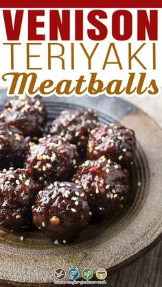 Like most normal humans, I have a thing for meatballs. And as a hunter, I love teriyaki meatballs — because, well, teriyaki seems to be one of the primary flavors American hunters turn to for cooking wild game. Obviously, I also love Italian meatballs, Greek meatballs, Laotian meatballs, German meatballs, etc, etc. | @huntgathercook #venisonrecipes #venisonmeatballs #teriyakimeatballs #deerhunting #vensionrecipes #groundvenisonrecipes #venisonappetizerrecipe Venison Meatballs, Teriyaki Meatballs, Greek Meatballs, Italian Meatballs, Ground Venison Recipes, Appetizer Recipes, Breakfast Recipes, Lunch, Chocolate