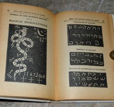 """Magical Hieroglyphics & seals from an early 1900's edition of """"The Sixth and Seventh Books of Moses""""."""
