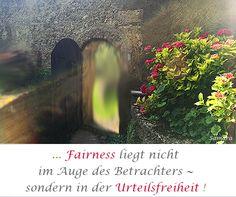 ... #Fairness liegt nicht im Auge des Betrachters ~ sondern in der #Urteilsfreiheit !