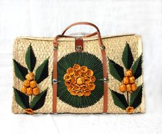 vintage straw bags - kayce hughes