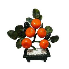 Arbol de la Prosperidad de cinco (05) Mandarinas y Jade