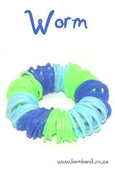 worm loom band bracelet