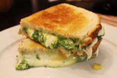 Spinach 'Pesto' Grilled Cheese