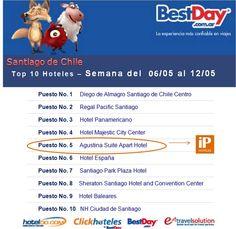 iP Hoteles - Top 10 de Hoteldo Agustina Suite - Semana 06 al 12 de Mayo de 2013