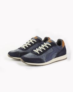 SNEAKERS BI-MATIERE DENIM