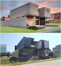 Classic House Looking Container House, Florida - USA - Living in a Container Cargo Container Homes, Shipping Container Home Designs, Shipping Container House Plans, Building A Container Home, Container Buildings, Shipping Containers, Container Design, Sustainable Architecture, Architecture Design
