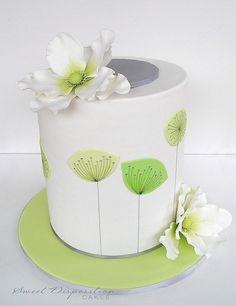 Spring mid century cake