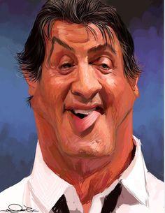 Caricatures of Famous Celebrities Rambo Cartoon Faces, Funny Faces, Cartoon Art, Cartoon Characters, Funny Caricatures, Celebrity Caricatures, Famous Cartoons, Funny Cartoons, Sylvester Stallone