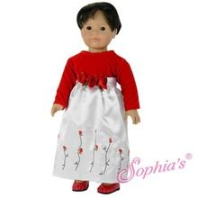 """Love this holiday dress that fits 18"""" american girl dolls. Use special discount code PIN10"""