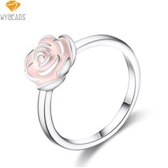 Cheap ring finger, Buy Quality enamel ring directly from China fashion rings Suppliers: WYBEADS Silver Color Rose Garden Rings Pink Enamel Ring Finger For Women Female Party Gift Fashion Original Jewelry Making Birthday Fashion, Silver Roses, Pink Roses, Cheap Rings, Pink Ring, Color Rosa, Engagement Jewelry, Ring Finger, Silver Color