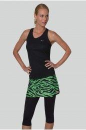 Green Tiger Print skort golf womens