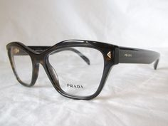 23c073744a9 Prada eye glasses frame pr27sv 2au1o1 dark havana gold 53-17-140 new    authentic