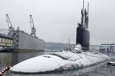 The Virginia (SSN 774) submarine alongside the General Dynamics Electric Boat yard at Groton, Connecticut. - Image - Naval Technology