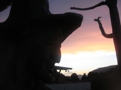 Abendstimmung am Hexenwasser - Hexe Silhouette, Witches, Water