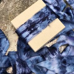 Galaxy color-Silk Ribbon Hand Dyed / 5 yards of 20 inch wide