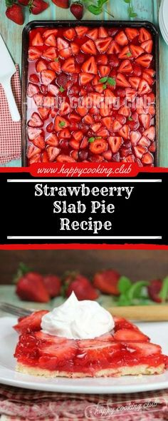 Strawbeerry Slab Pie Recipe This Strawberry Slab Pie is a spin on my favorite sparkling strawberry pie that my grandma made each summer time. A exquisite dessert for any summer season get collectively, fish fry or potluck! Pie Recipes, Dessert Recipes, Cooking Recipes, Recipies, Just Desserts, Delicious Desserts, Yummy Food, Slab Pie, Pie Pie