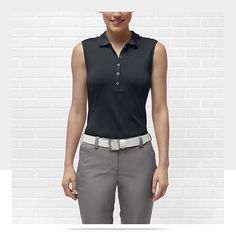 Nike Dot Collar Sleeveless Women's Golf Polo