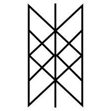 Web of Wyrd--the matrix of fate (wyrd) It contains all of the shapes of the runes and therefore all of the past, present, and future possibilities they represent.