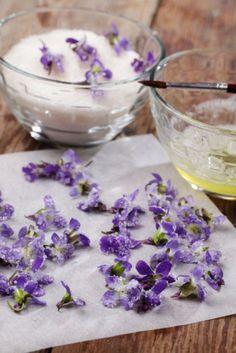 Crystallised Violets - a labour of love. Image:  Lilyana Vynogradova Shutterstock.com