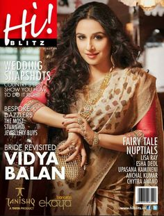 Vidya Balan on The Cover of Hi! Blitz Magazine - October 2013.