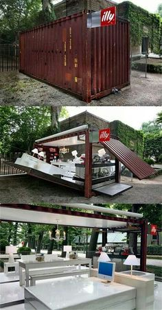 Illy house-in-a-shipping-container. Nyc
