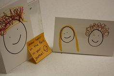 H is for hair, draw a circle in journal and have child add hair.