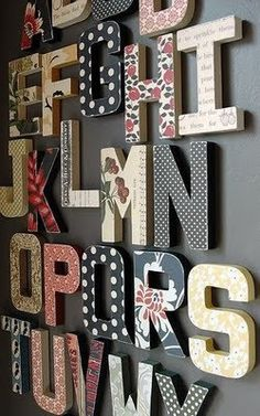 "Shabby chic wedding decor! Getting these in ""MR & MRS"" for the reception. Designer Paper Mache Letter - via Etsy."