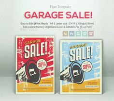 Garage Sale Flyer Templates  Sale Flyer Flyer Template And Template