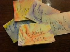 Watercolor thank you cards! Phoebe Thomas Calligraphy