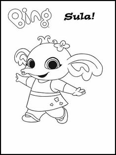 Printable coloring pages for kids Bing Bunny 2 Online Coloring Pages, Disney Coloring Pages, Coloring Book Pages, Printable Coloring Pages, Coloring Pages For Kids, Coloring Sheets, Bing Hase, Bingo, Feltro