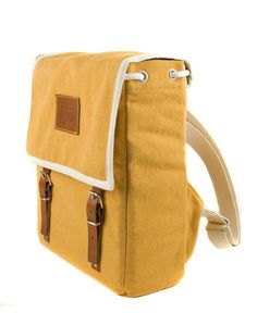 Mustard Globby Canvas Backpack