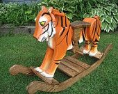wooden rocking horse on Etsy, a global handmade and vintage marketplace.