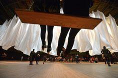 Ann Hamilton: Swing art installation  Photo by Philip Greenberg, New York Times