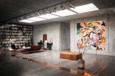 Christian & Karen Boros's Concrete Penthouse in a 1942 Bunker [Berlin]