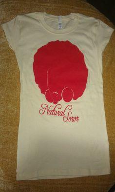 DELTA SIGMA THETA Natural Soror Shirt (Size Large) Clearance. $20.00, via Etsy.