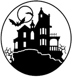 'Haunted House' Pattern – Free Scary Halloween Pumpkin Carving Patterns