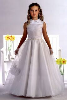 Whimsical First Communion Dress Tulle Skirt with Beaded Waistline ...