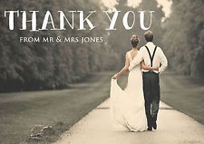 PERSONALISED VINTAGE POSTCARD DOUBLE SIDED PHOTO WEDDING THANK YOU CARDS