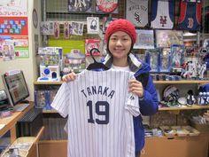 【大阪店】2015.02.02 台湾からお越しいただきました!!やはり台湾でも有名な田中投手のユニフォームをご購入いただきました!