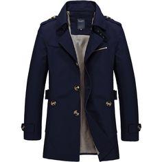 fab4074833bb6 Men s Coat 2017 Hot Sale Fashion Casual Autumn Long Windbreaker Turn-down  Overcoat masculino Plus Size